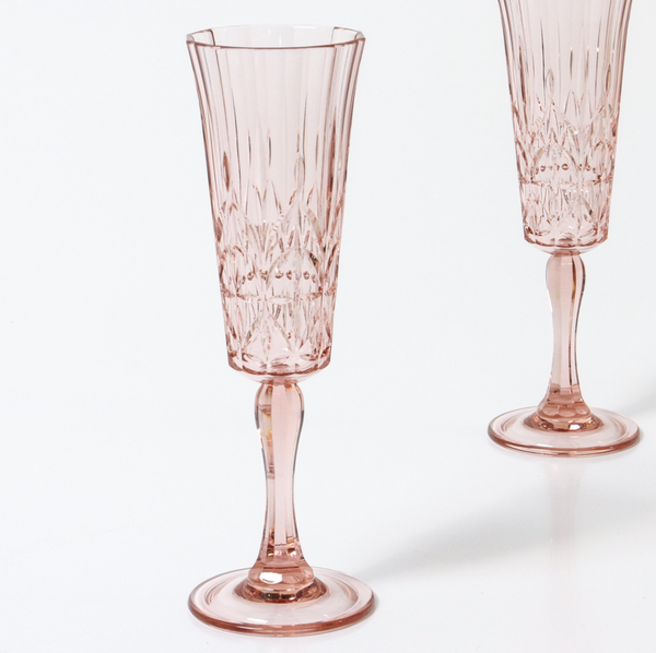 Flemington Acrylic Champagne Glass: Pale Pink