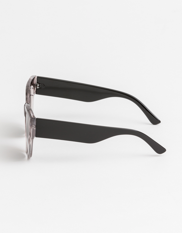 Evie Sunglasses: Grey Leopard