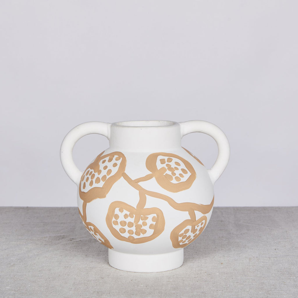 Spotted Begonia Vase - Wheat Short *preorder*