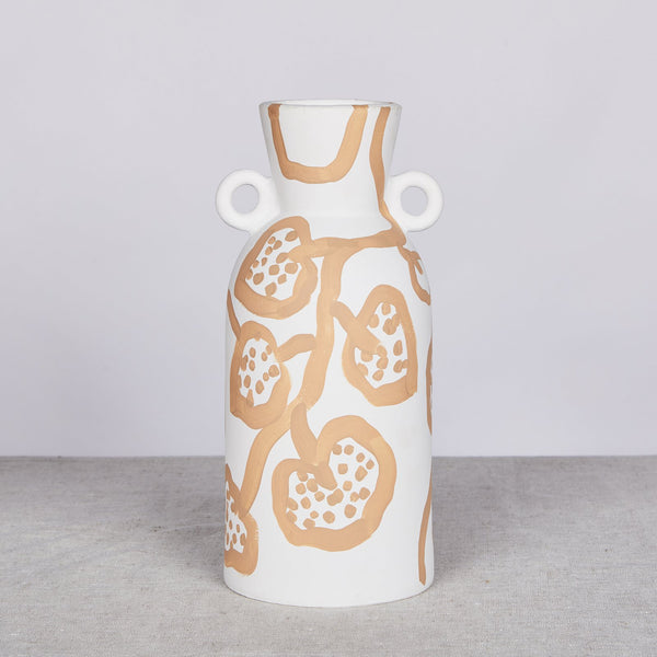 Spotted Begonia Vase - Wheat Tall *preorder*
