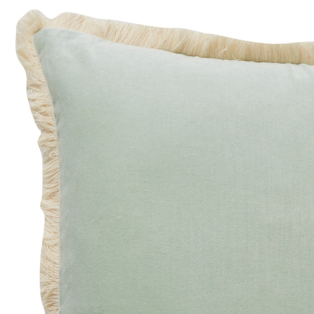 Figue Fringe Cushion: Mint