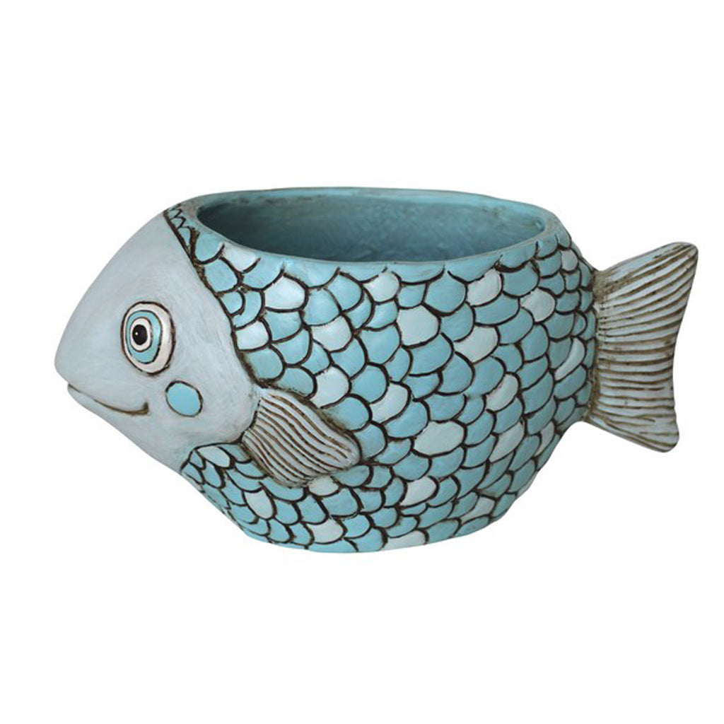 Blue Fish Planter