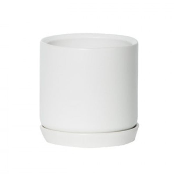Small Oslo Planter: Ice White