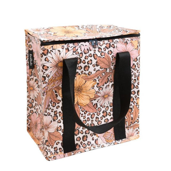 Cooler Bag: Leopard Floral