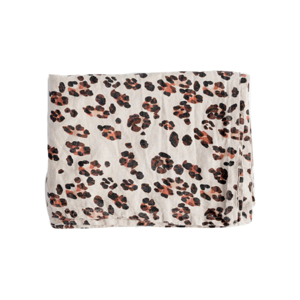 Linen Tablecloth: Leopard
