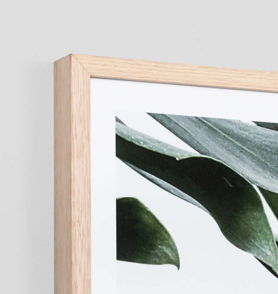 Monstera Portrait Framed Print