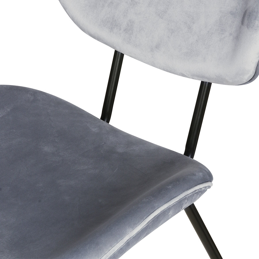Velvet Dining Chair: Cool Grey