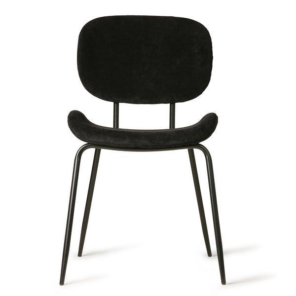 Velvet Dining Chair: Black
