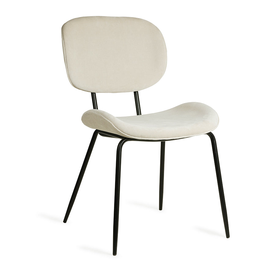Velvet Dining Chair: Creme