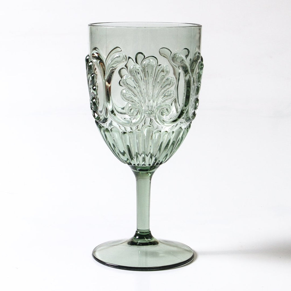 Flemington Acrylic Wine Glass: Green