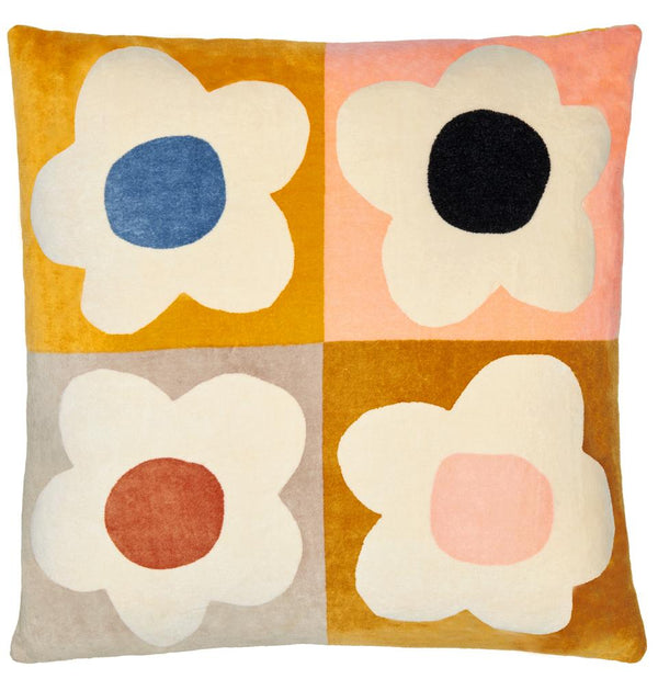 Floral Block Velvet Cushion *preorder*