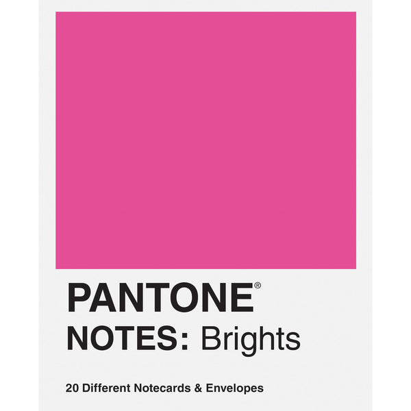 Pantone Notes Brights - 20 Different Notecards & Envelopes