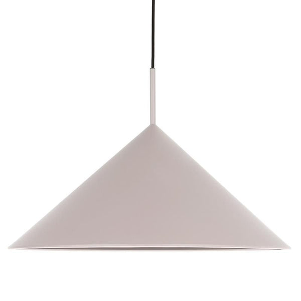 Metal Triangle Pendant: Warm Grey