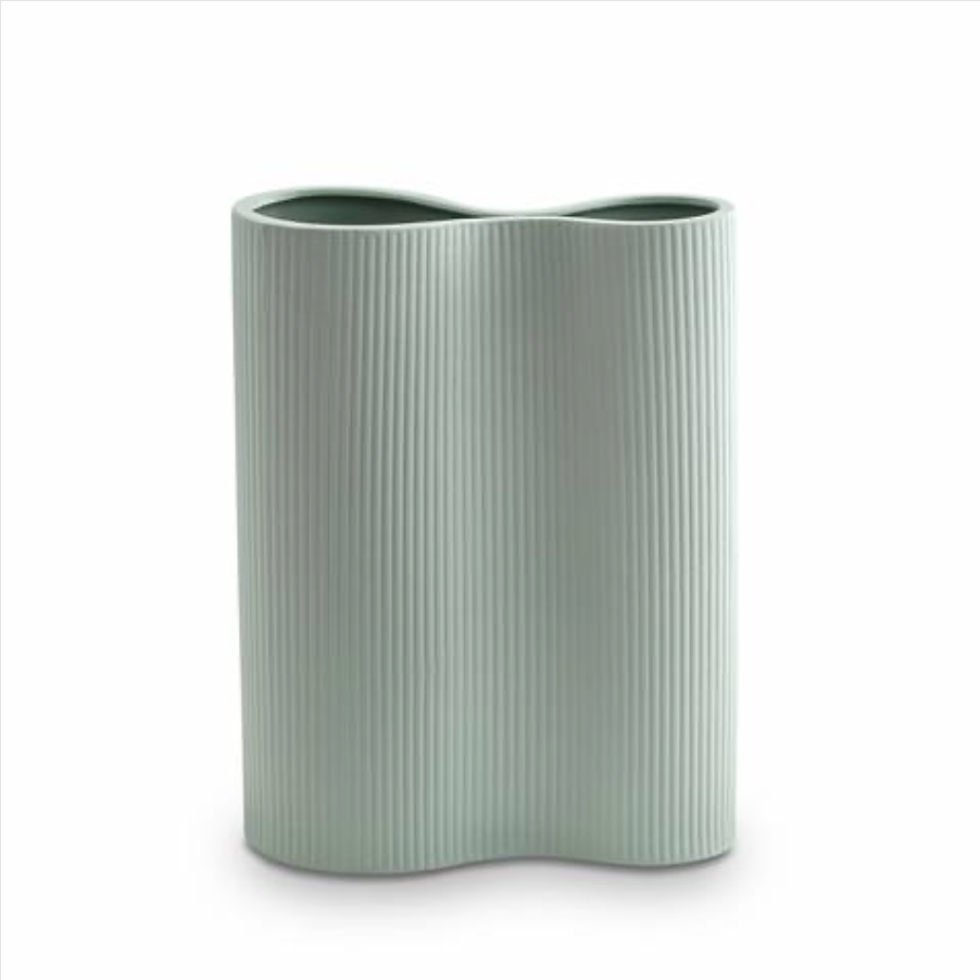 Ribbed Infinity Vase - Blue Large