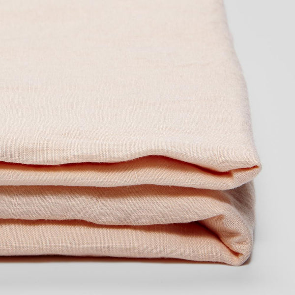 Linen Fitted Sheet: Peach