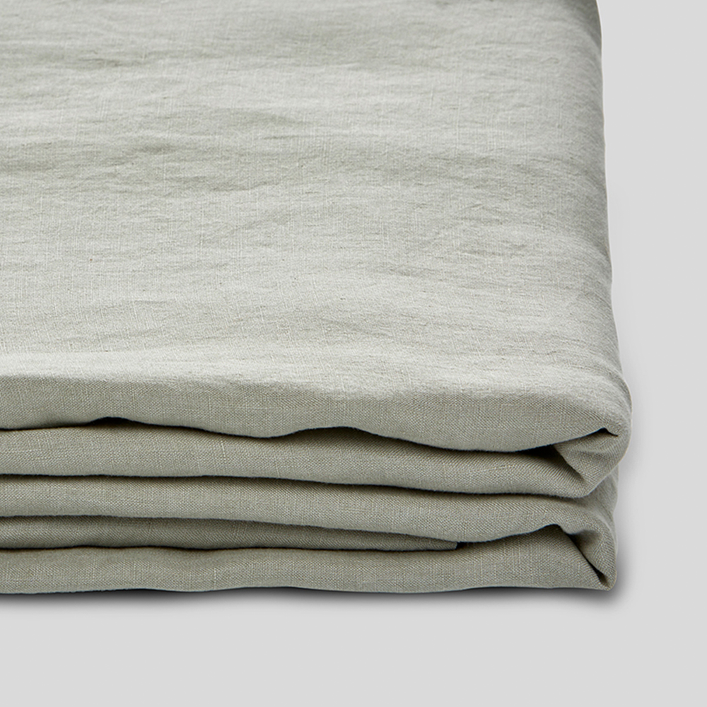 Linen Fitted Sheet: Stone