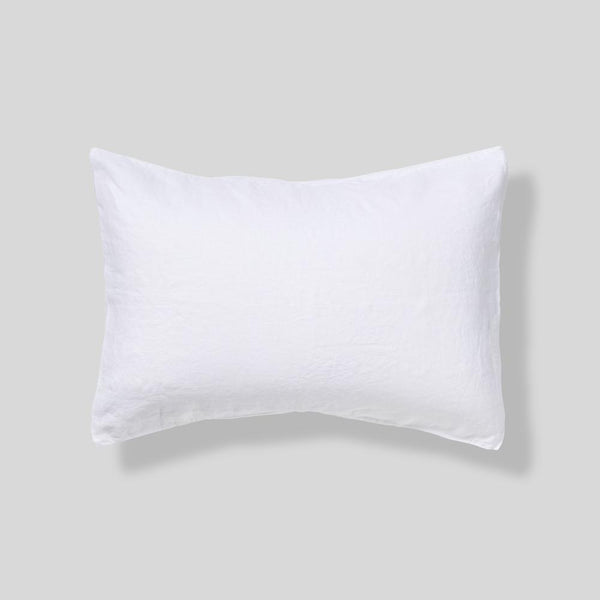 Linen Pillowcase Set: White