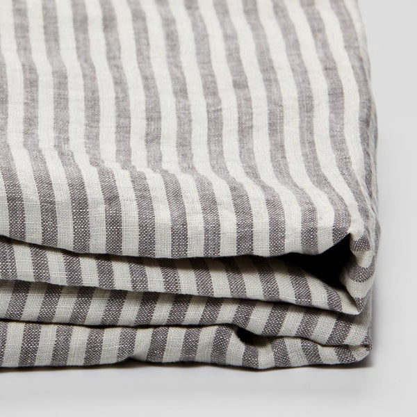 Linen Flat Sheet: Stripe