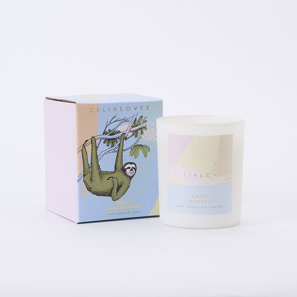 Sweet Lemongrass Candle: Large