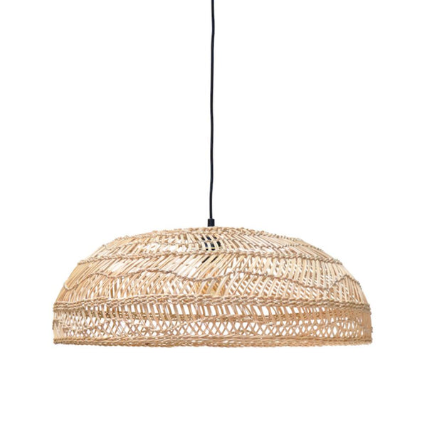 Wicker Hanging Lamp: Flat Medium