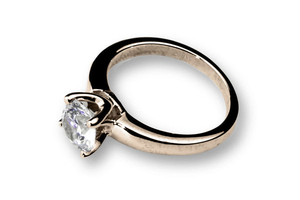 Anillo con Diamante Beauty Oro Rosa 14k