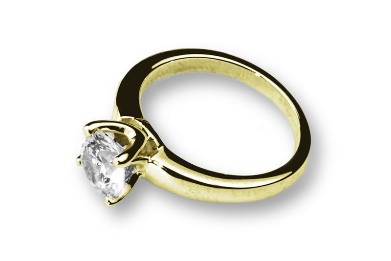 Anillo con Diamante Beauty Oro Amarillo 14k