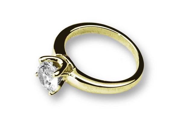 Anillo con Diamante Beauty Oro Amarillo 18k