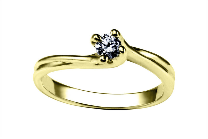 Anillo con Diamante Mix Oro Amarillo 14k