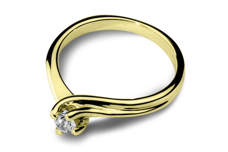 Anillo con Diamante Mix Oro Amarillo 18k