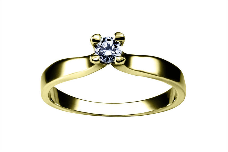 Anillo con Diamante Flower Oro Amarillo 14k