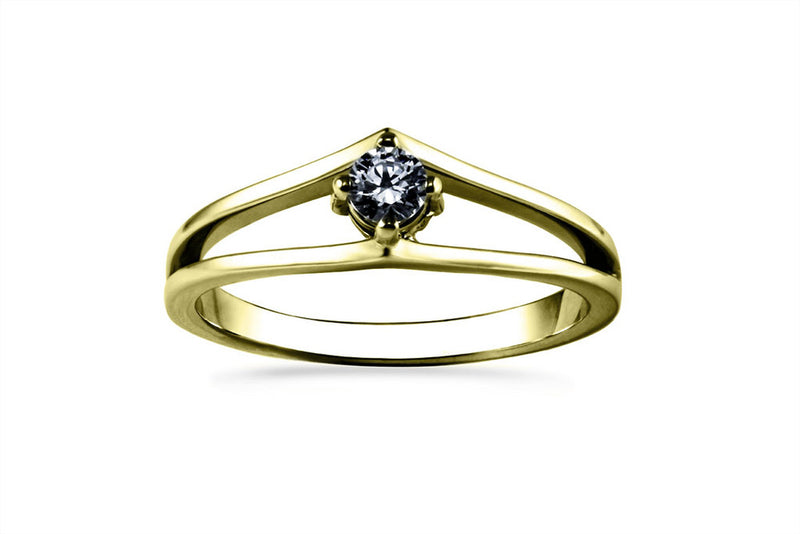 Anillo con Diamante Drop Oro Amarillo 14k