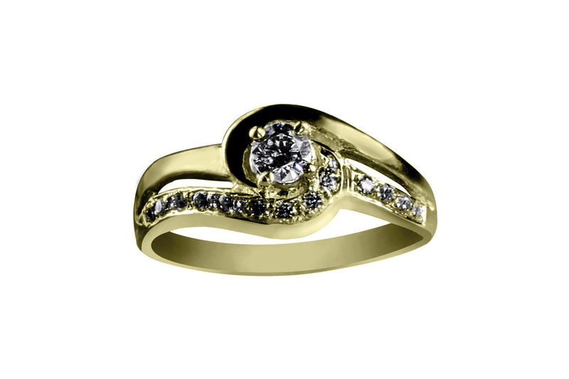 Anillo con Diamante Couple Oro Amarillo 18k