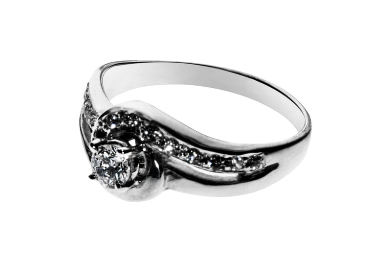 Anillo con Diamante Couple Platino