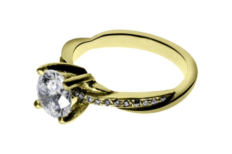Anillo con Diamante Eternity Oro Amarillo 14k