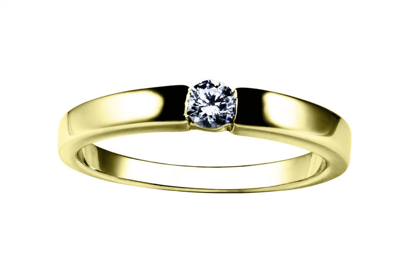 Anillo con Diamante Dive Oro Amarillo 18k