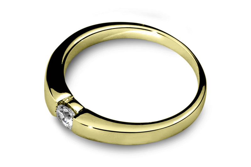 Anillo con Diamante Dive Oro Amarillo 14k