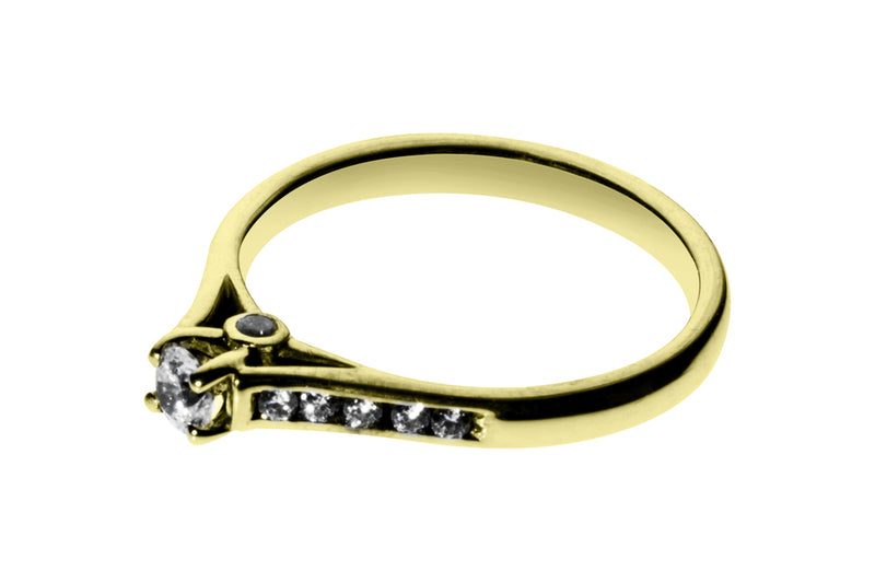Anillo con Diamante Tomorrow Oro Amarillo 14k