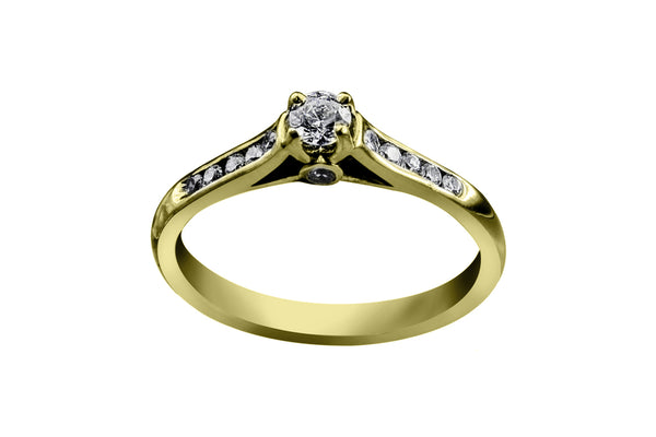 Anillo con Diamante Tomorrow Oro Amarillo 18k