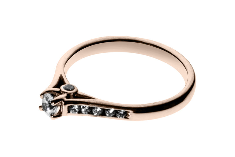 Anillo con Diamante Tomorrow Oro Rosa 14k