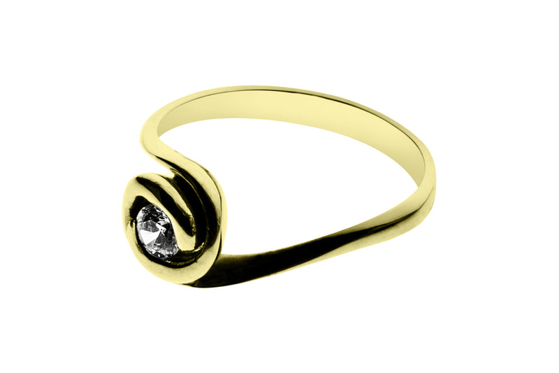 Anillo con Diamante Rose Oro Amarillo 18k