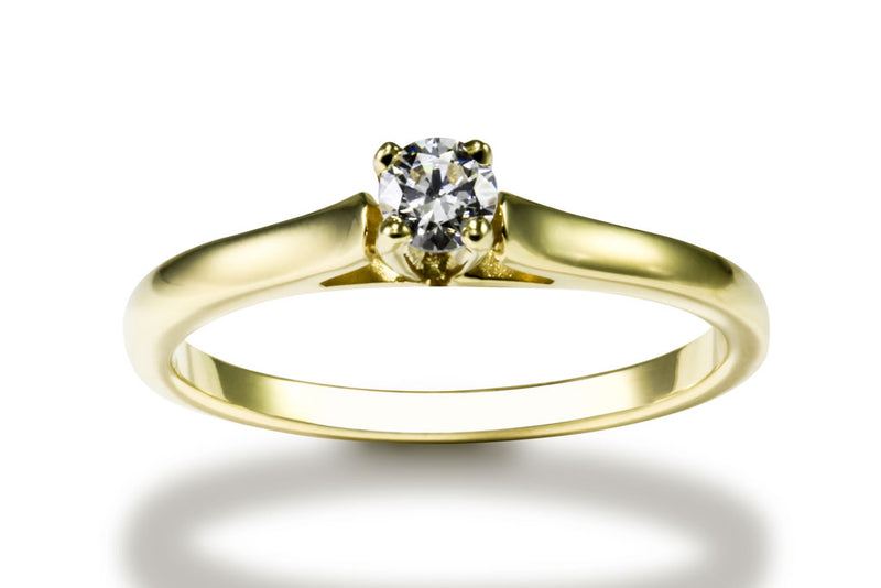 Anillo con Diamante High Oro Amarillo 18k