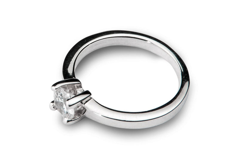 Anillo con Diamante Square Oro Blanco 18k
