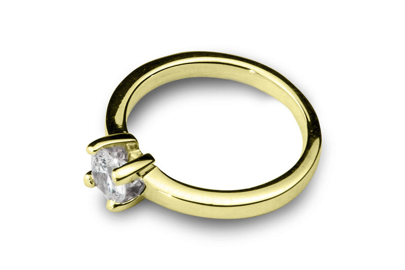 Anillo con Diamante Square Oro Amarillo 14k