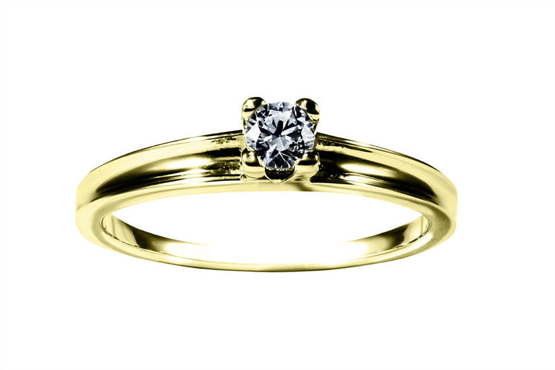Anillo con Diamante Channel Oro Amarillo 14k