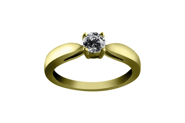Anillo con Diamante Bond Oro Amarillo 18k