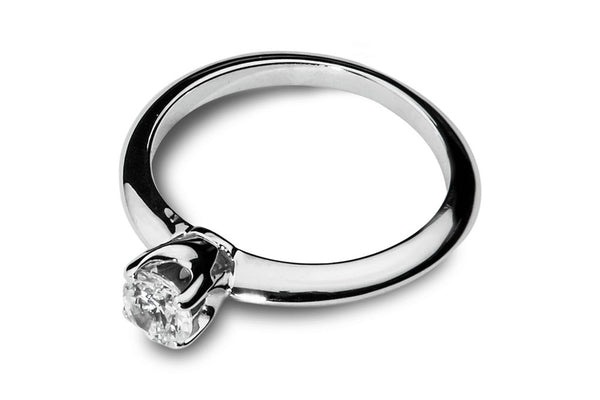 Anillo con Diamante Thorn Oro Blanco 14k
