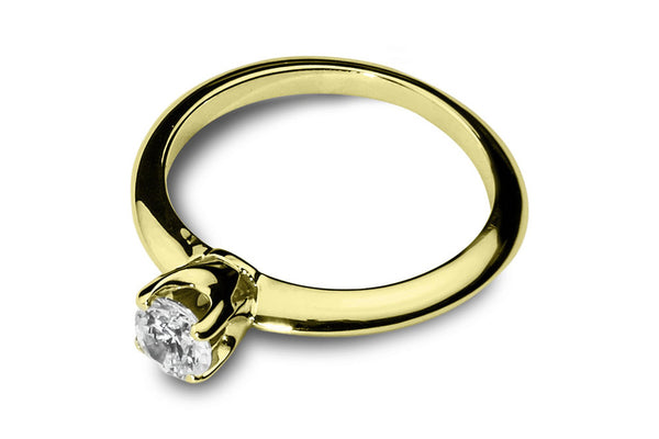Anillo con Diamante Thorn Oro Amarillo 18k