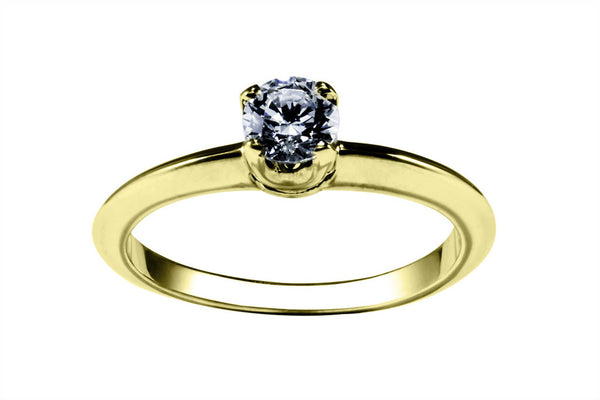 Anillo con Diamante Thorn Oro Amarillo 14k