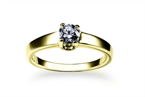 Anillo con Diamante You Oro Amarillo 14k