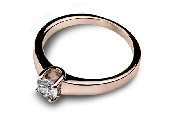 Anillo con Diamante You Oro Rosa 18k